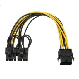 PCIe 8 pin anya - 2x 6+2 pin apa tápkábel