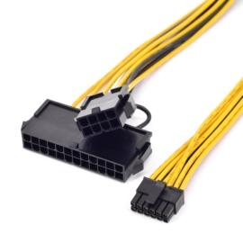 ATX 12 pin - 24 pin + CPU 8 pin átalakító kábel